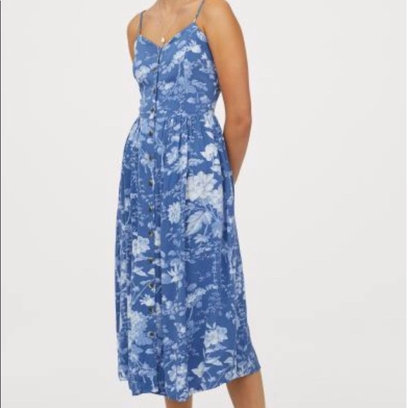 H&M Dresses & Skirts - Small blue H&M brand dress, mid calf length